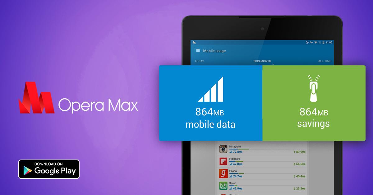 Opera Discontinues Opera Max social opera max tablet GLOBAL savings
