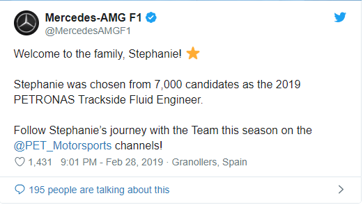 Stephanie Travers, Zimbabwean Stephanie Travers is new Mercedes-AMG F1 Trackside Fluid Engineer, Zimbabwe News Newsdzezimbabwe